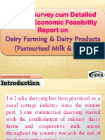 Market Survey cum Detailed Techno Economic Feasibility Report on Dairy Farming & Dairy Products (Pasteurised Milk & Curd)