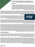 Amrtya Sen - El Pensamiento de Amartya Sen Sobre La Globalización