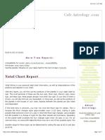 Vanna Natal Chart Report