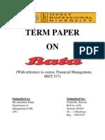 Bata company term paper