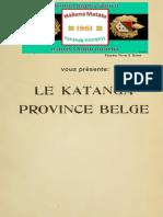 KATANGA Province Belge