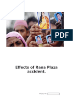 Effects of Rana Plaza Accident