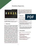 Emulsion Dispersion