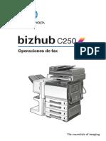 Bizhub c250 Um Fax-operations Es 1-1-1