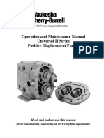 Waukesha Universal II Positive Displacement Pumps Manual