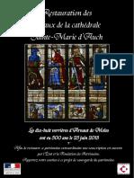 Financement participation pour la restauration des vitraux de la cathédrale d'Auch