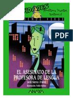 Actividades Novela El Asesinato de La Profesora de Lengua