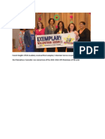 forest heights stem academy received the exemplary volunteer service award 10