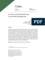 Zabludovsky, Gina. Los Procesos de Individualización y La Juventud Contemporanea