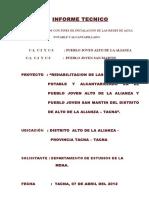 Informe Técnico - Estudio de Suelos Del Proyecto Alto de La