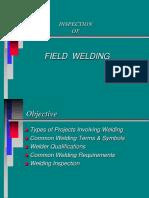 Inspection of Field Welding