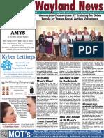 The Wayland News May 2016