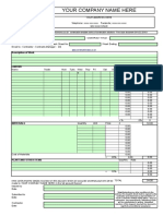 Daywork Sheet  Template
