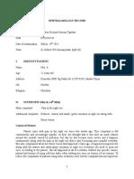 Ophthalmology Record Ujian Gilbert