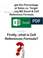 How to Get the Percentage of Actual Sales vs. Target Sales Using MS Excel & Cell Reference Formula_Sofia B_Precision Minister