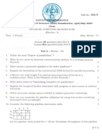 362N - Advanced Computer Architecture (Elective - I)(Sem - II)(Main)