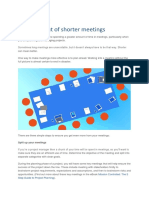 Get More Out of Shorter Meetings