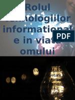 Rolul Tehnologiilor Informationale in Viata Omului