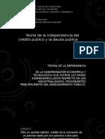 Teoría de la Dependencia del Crédito Público y la Deuda Pública