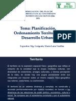 Planificación, Ordenamiento Territorial y Desarrollo Urbano