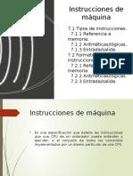 Instrucciones de Maquina