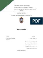 Trabajo Defensa Integral de la Nacion VII