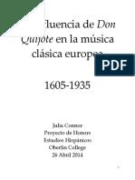 La Influencia La influencia de Don Quijote en la música