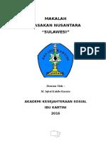 "Masakan Nuasntara ""Sulawesi"""