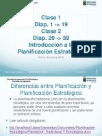 Clase 1 y 2 Introducción a La Planificación Estratégica Sem 1 2016