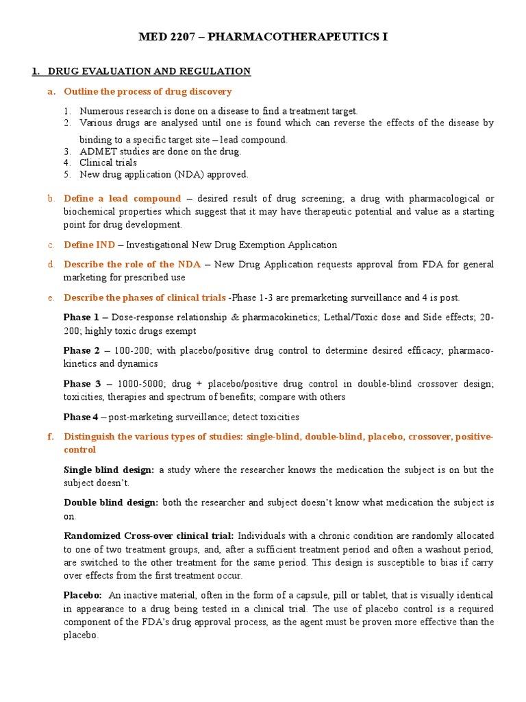 MED 2207 Group Presentations Outline2 | Pharmacovigilance | Dietary