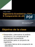IE- Clase 6- Comparacion Alternativas