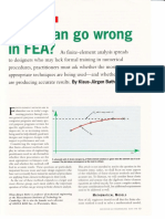 What can go wrong with finite element analysis