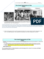 the great depression sheet