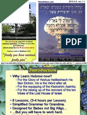 Biblical Hebrew Grammar Presentation | Grammatical Gender