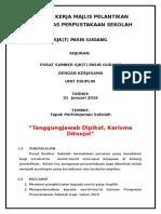 Kertas Kerja Majlis Pelantikan Pengawas Sekolah. 2016