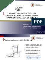 EVALUACIÓN DEL PROCESO DE OXIDACIÓN   ELECTROQUÍMICA EN EL TRATAMIENTO DE AGUA DE SENTINA