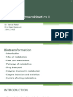 Clinical Pharmacokinetics (biotransformation)