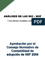 Análisis de Las NIC - NIIF y Sus Efectos Contables y Tributarios