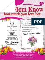 Mother's Day Love Lines Flyer