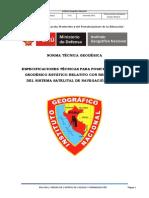 Norma Técnica Geodesica-IGN Peru