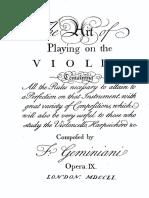 IMSLP05501 Geminiani Art of Playing