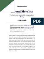 George Novack, Liberal Morality