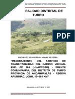 Pip Camino Huaccoto Fformulacion