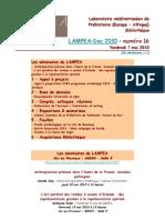 LAMPEA-Doc 2010 - numéro 16 / Vendredi 7 mai 2010