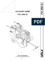 Golz FS250D Parts And Operators Manual
