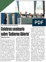 23-04-16 Celebran seminario sobre 'Gobierno Abierto'