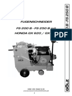 Golz FS200B Operators Manual
