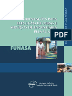 Orientações Para Execução de Obras e Serviços de Engenharia Pela FUNASA