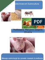 Manejo Nutricional x Qualidade de Carne Suína