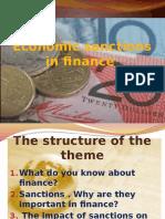 Economic Sanctions of Finance